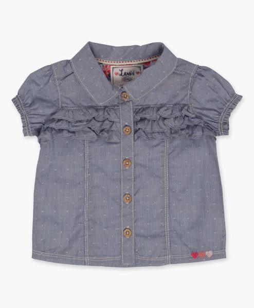 【BJ.GO】 Levi'sR_Infant Girls Woven Top (12-24 M) 甜美荷葉花邊設計師上衣  2015 官網現貨+代購
