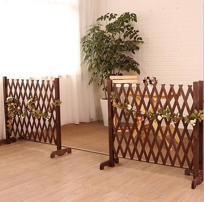 戶外花園防腐柵欄圍欄網格花架伸縮碳化木護欄室內室外隔斷小籬笆 星際小鋪