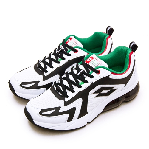 LIKA夢 LOTTO 專業避震氣墊慢跑鞋LT20系列 白黑綠 2398 男