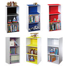 【熱銷款】空櫃 收納【收納屋】多彩三格空櫃-多色可選&DIY組合傢俱
