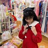 秋冬新款甜美法式洋氣燈芯絨收腰顯瘦中長款長袖聖誕連身裙女- 韓美e站