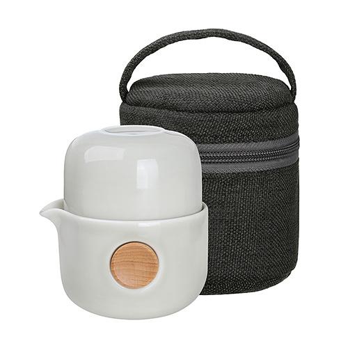 Quicker雙享泡-布包組(250ml) 旅行茶具 泡茶杯 瓷器茶具 便攜型茶具 套裝茶壺茶杯 現貨