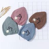 新生兒帽子秋冬季0-3-6個月初生寶寶胎帽嬰幼兒保暖針織帽可愛 概念3C旗艦店