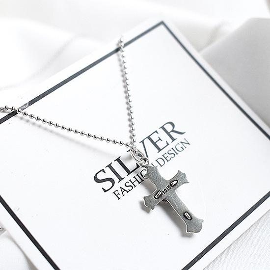 《 QBOX 》FASHION 飾品【C20DJ-69】精緻個性復古宗教耶穌十字架S925純銀項鍊/泰銀吊墜