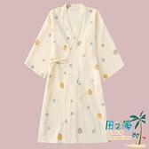 睡裙睡袍女夏季純棉紗布和服春秋薄款日系家居服日式夏天浴袍睡衣【風之海】