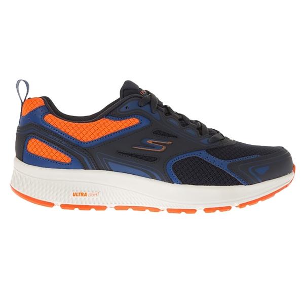 SKECHERS GO RUN CONSISTENT 男款慢跑鞋瑜珈鞋墊 網布 深藍橘 220081NVOR