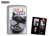 【寧寧精品】Zippo 原廠授權台中30年旗艦店 防風打火機 加送精美禮盒組 貓咪 墨鏡貓咪 4458-2