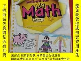 二手書博民逛書店罕見-Hill My Math Volume 1 書內有鉛筆字跡劃線!Y25376 McGraw-Hill M