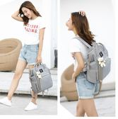 雙肩包媽媽包韓版多功能母嬰包大容量寶媽包時尚外出媽媽旅行背包