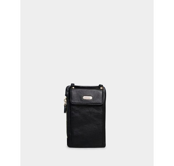 真皮包包-R&BB牛皮*多功能手機袋錢夾斜背護照小包(可放iPhone Plus三星Note、S系列)-黑色/棕/酒紅