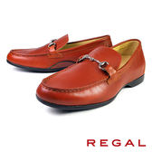 【REGAL】金屬釦環樂福鞋 咖啡(T96A-BR)