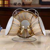 不銹鋼方形歐式咖啡杯杯架家用水杯掛架瀝水架馬克杯陶瓷杯杯架子【櫻花本鋪】