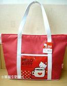 ☆草莓牛奶屋☆日本進口SANRIO三麗鷗【HELLO KITTY】水玉點點肩背包