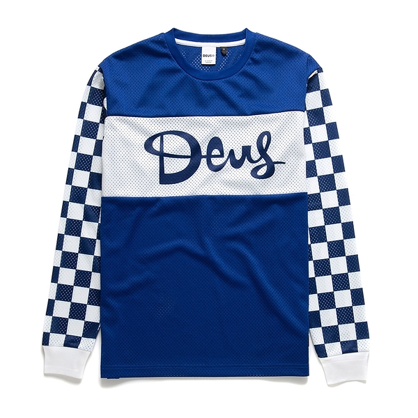 Deus Ex MachinaCatch Hell Moto Jersey長袖T恤 - 藍
