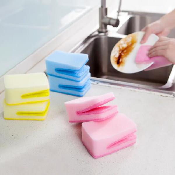 【BlueCat】U型鱷魚嘴洗碗菜瓜布 去污海綿 海綿刷