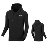 Yonex [150379BCR007] 男 連帽 長袖 上衣 運動 舒適 透氣 吸汗 速乾 防曬 保暖 黑白