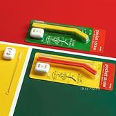 日本 hashy米菲兔 折疊環保矽膠吸管+清潔刷具及盒子