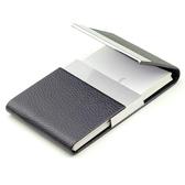 名片夾男式高檔簡約創意不銹鋼金屬大容量商務皮質女士名片盒