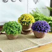 田園仿真植物球盆栽小盆景套裝室綠植裝飾【奈良優品】