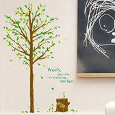 創意無痕壁貼 牆貼 背景貼 壁貼樹 時尚組合壁貼 璧貼 年輪樹 【YP1823】 HappyLife