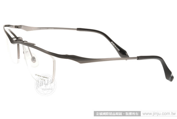 KATHARINE HAMNETT 眼鏡 KH9134 C02 (槍銀-黑) 日本工藝鈦金屬系列眉框款 # 金橘眼鏡