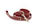 Paw Dreamer 寵物精品 ♥  葡萄紅純義大利小牛皮材質繫繩 - 英國純手工製作!