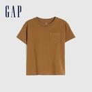 Gap男幼童 純棉舒適圓領短袖T恤 906454-淺棕色