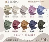 【現貨】莫蘭迪系列 巧奇成人平面醫療口罩(10色) 30入/盒 [美十樂藥妝保健]