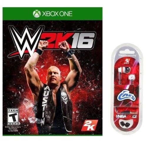 【軟體世界】XBOX ONE WWE 2K16 (亞版英文版)送2K13耳機