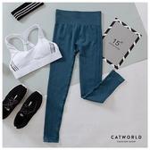 Catworld 高腰修身提臀無縫運動褲【12001931】‧S/M/L