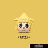 保護殼 卡通可愛晴空醬星星女孩蘋果AirPods1/2代保護套無線藍【免運出貨】