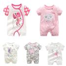 嬰兒短袖兔裝 女寶寶 連身衣 棉質嬰兒服...