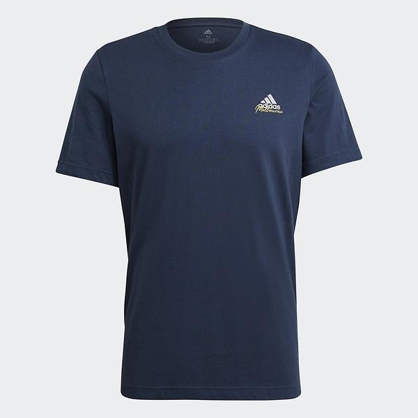 ADIDAS TENNIS GRAPHIC 男裝 短袖 慢跑 訓練 吸濕 排汗 冰淇淋 藍【運動世界】GN8069