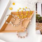 耳環 彩色 花朵 點綴 圈圈 立體 金屬 花瓣 耳圈 耳環【DD1904216】 BOBI  05/09