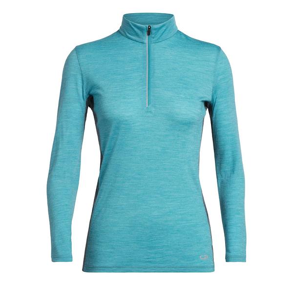 [好也戶外]Icebreaker女Amplify COOL-LITE 排汗半開襟長袖上衣AD150 藍灰 NO.104815