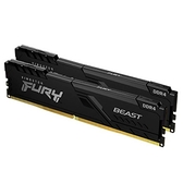 Kingston 金士頓 FURY Beast 獸獵者 16GB 8GB*2 DDR4-3200 桌上型 記憶體 黑色散熱片 KF432C16BBK2/16