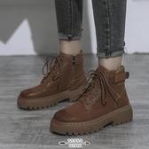 馬丁靴 新款女百搭潮酷厚底秋冬季女鞋網紅瘦瘦短靴 - 古梵希