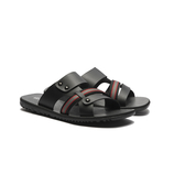 WALTZ-簡約織帶設計男拖鞋632061-02黑