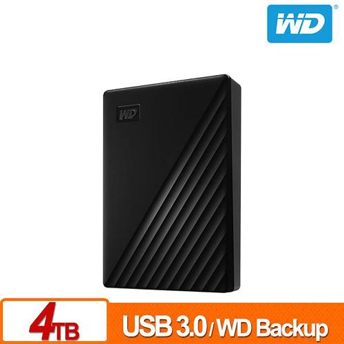 (2019新款) WD My Passport 4TB 黑色 2.5吋 USB3.0 外接硬碟 WDBPKJ0040BBK-WESN