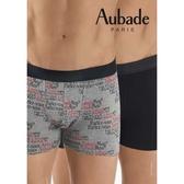 Aubade man-舒棉M-XL平口褲(Aubademan2件組)