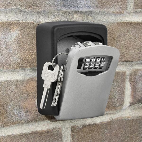 戶外防盜密碼鎖鑰匙收納盒壁掛式門口入戶門備用家用房卡保管箱 南風小鋪