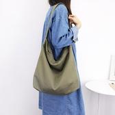 帆布袋 側背包 素色 簡約 磁釦 手提包 帆布包 斜背包 環保購物袋-手提/單肩包