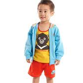 【愛的世界】純棉圓領黑熊印圖背心/4~6歲-台灣製- ★春夏上著