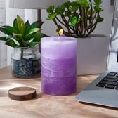 銀花百合漸層4吋蠟燭-生活工場