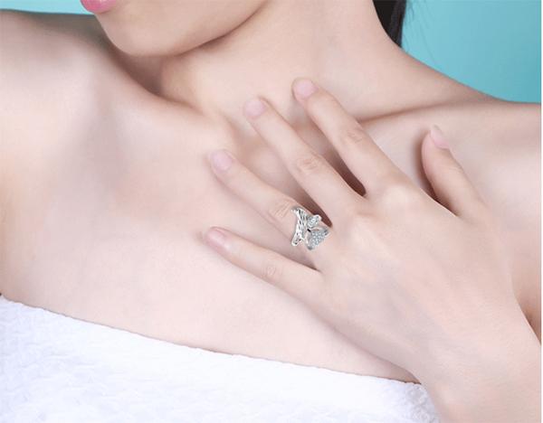 戒指 狐狸戒指女999純銀個性網紅時尚銀飾設計食指足銀開口可調節 店慶降價