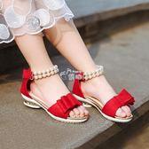夏季女童涼鞋魔術貼兒童公主鞋女韓版軟底小女孩學生童鞋 俏腳丫