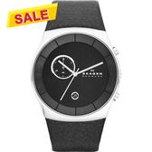 SKAGEN 經典系列 都會紳士計時腕錶/手錶-黑 SKW6070