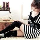 esoxshop 春夏新款˙晶亮時尚星型提花膝上襪