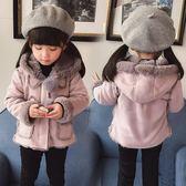 童裝女童加絨外套新款1-3歲5秋裝6兒童冬裝洋氣寶寶保暖上衣【尾牙交換禮物】
