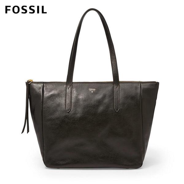 FOSSIL Sydney 黑色真皮托特包